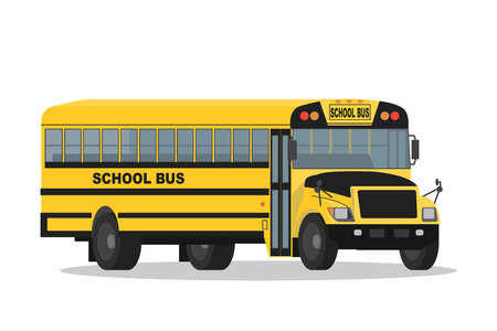 yellow schoolbus: Vector yellow school bus isolated on white background.