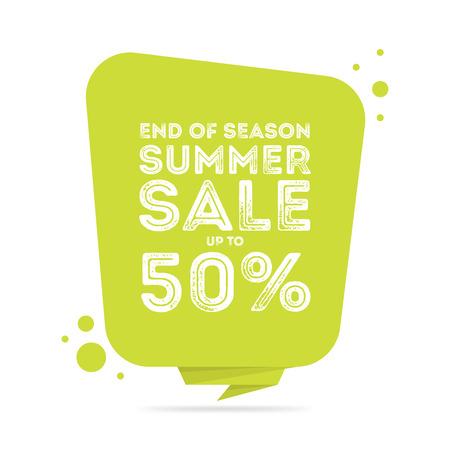 end: End of season summer big sale banner.