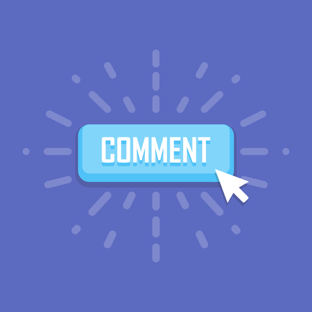 feedback link: Comment button template. design. Business with symbol icon.