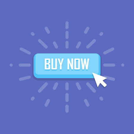 buy button: Mouse click on buy now button icon. illustration. Illustration