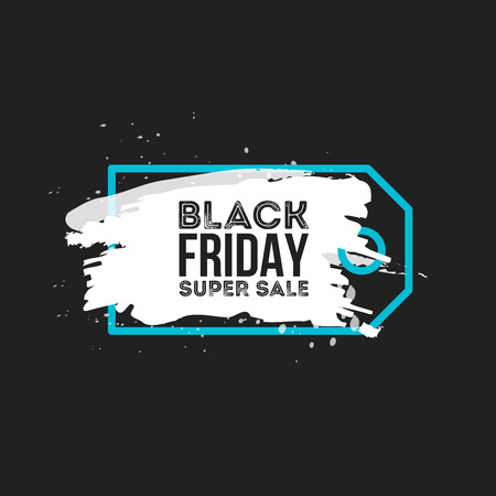 price label: Black Friday Sale Abstract background. Grunge watercolor brush label price tag. Illustration for your business artwork. Illustration