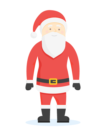 hand stand: Santa Claus Cartoon Style Characters. Vector illustration. Illustration