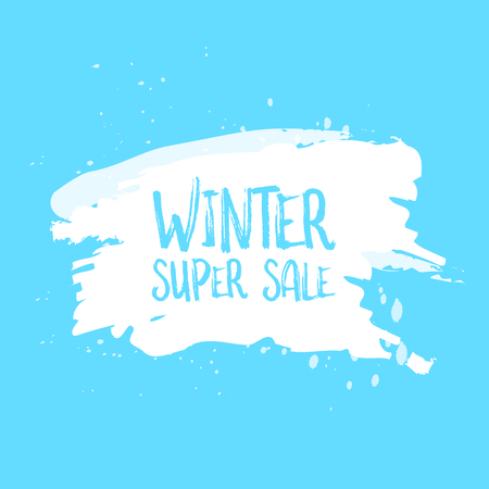 bargaining: Winter sale poster design template or Background. Creative business promotional vector.
