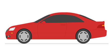 Car isolated vector illustration. Automobile in white background. Illustration