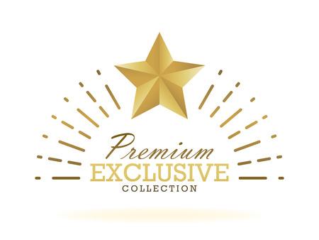 exclusive collection: Exclusive collection sale golden badge. Gold label vector illustration.