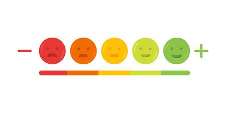 Feedback emoticon emoji smile icon vector illustration.