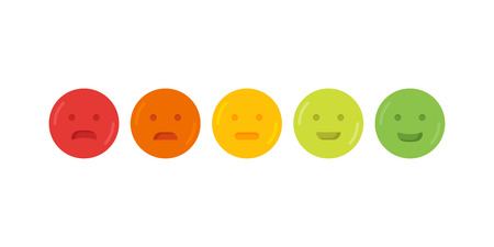 Feedback emoticon emoji smile icon vector illustration.