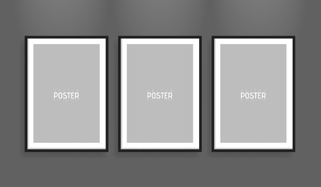sized: Empty white A4 sized vector paper frame mockup. Show your flyers, brochures, headlines etc with this highly detailed realistic design template element. Illustration