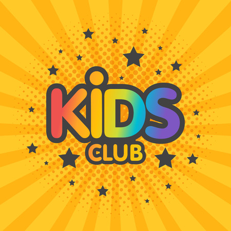Illustration du vecteur de l'affiche de signe de lettre de club pour enfants.