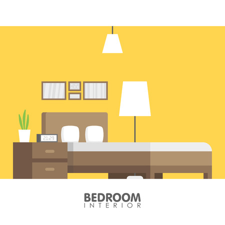 Modern badroom interior design icon. Vector illustration.