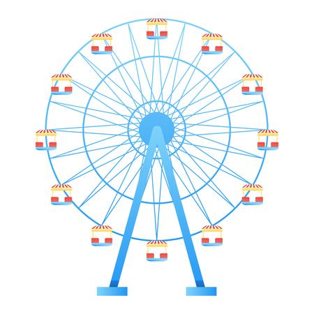 Ferris Wheel fun park in white background vector illustration Illustration