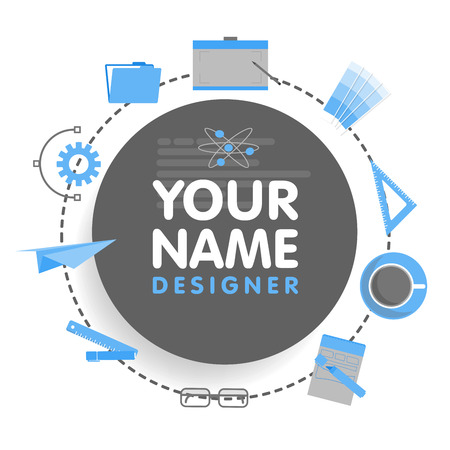 originator: Social network designer avatar. Place for your name. Template of the artist portfolio, banners, announcements, web sites and other projects