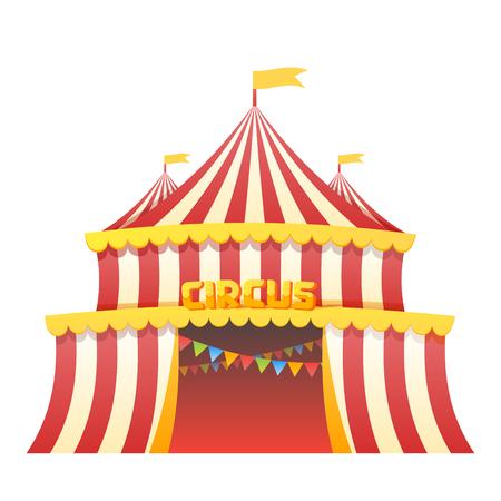 Circus tent fun park in white background vector illustration Ilustração Vetorial