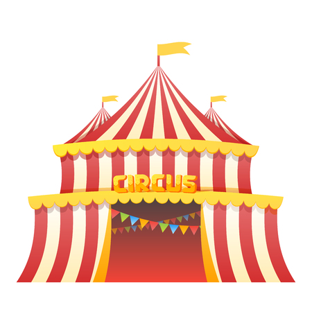 Circus tent fun park in white background vector illustration Illustration