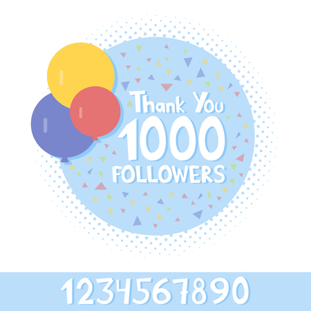 likes: Thank You social network followers concept. Vector illustration