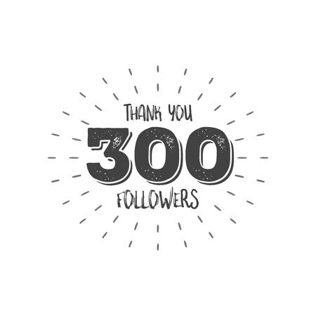 Thank you letters for follower vector illustration Reklamní fotografie - 75188665