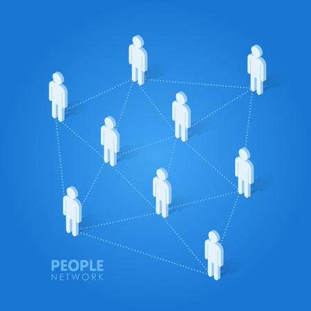 Social-Leute-Netzwerk-Konzept isometrische Vektor-Illustration.