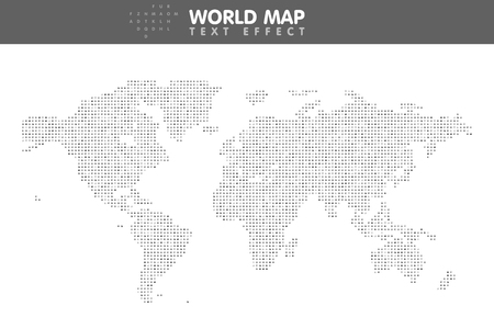 minimalistic: The minimalistic worldwide map Illustration