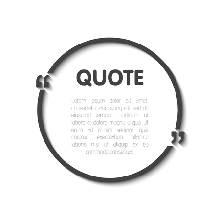 Quote bubble blank templates.