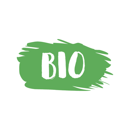 Grunge bio natural rubber stamp, vector illustration. Illustration
