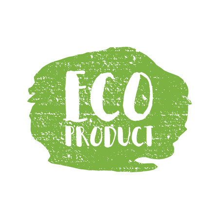 craft product: Eco product badge, vintage label with hand drawn lettering Natural cosmetics. Vector natural, organic food, bio, label and shape. Illustration