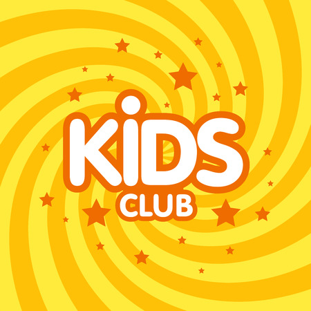 Kids club brief teken poster vectorillustratie.