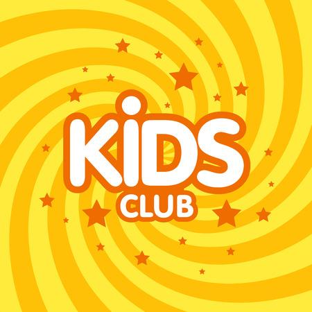 Kinderclub Buchstabezeichen Plakat Vektor-Illustration. Standard-Bild - 81815376