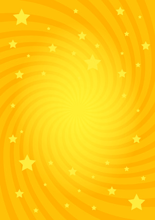 Vector illustration for swirl design. Swirling radial pattern stars background. Vortex starburst spiral twirl square. Helix rotation rays. Converging psychedelic scalable stripes. Fun sun light beams.