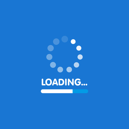 sistema de software de actualización y el concepto de actualización. proceso de carga de la plantilla. ilustración vectorial .