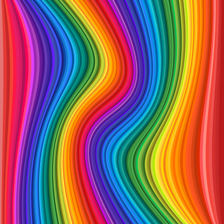 Abstract Colorful rainbow Waves. Vector illustration Background Иллюстрация