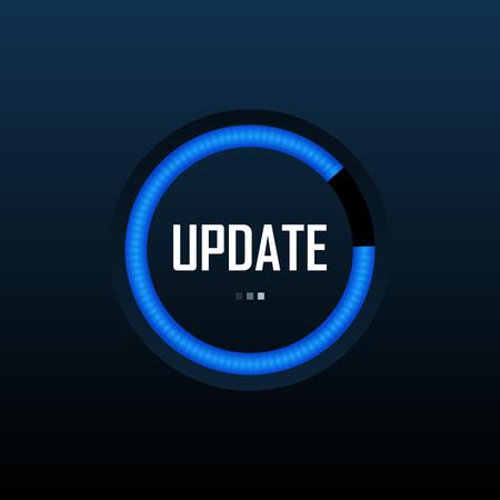 Systemsoftware-Update- und Upgrade-Konzept. Prozessbild laden. Vektor-Illustration.