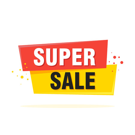 Super Sale, special offer label banner - Vector illustration