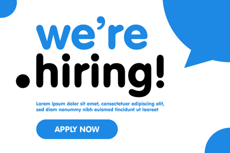 We are Hiring Vector Background. Trendy Bold Black Typography. Job Vacancy Card Design. Join Our Team Minimalist Poster Template, Looking for Talents Advertising, Open Recruitment Creative Ad. 일러스트