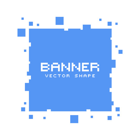 Square pixel banners. Vector blank frames ready for your text or design