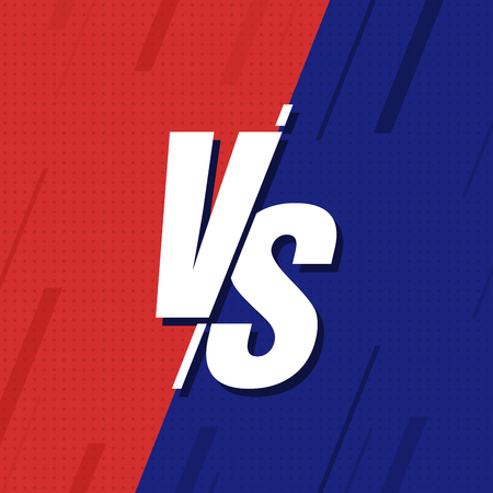 VS Versus Blue and red comic design. Vector illustration Ilustrace