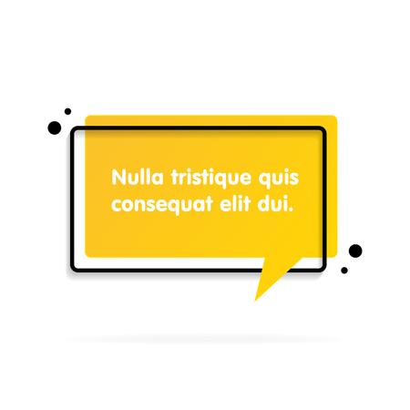 Quote text bubble. Commas, note, message and comment Vector illustration Çizim