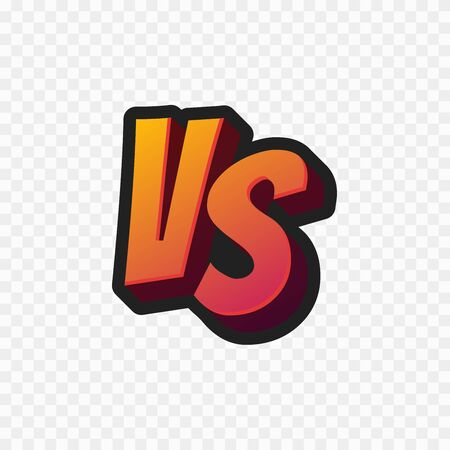 Vs letters or versus   vector sign isolated on transparent background.