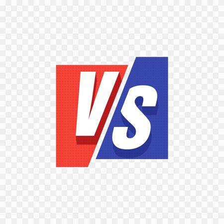 VS Versus Blue and red comic design. Vector illustration. Illustration