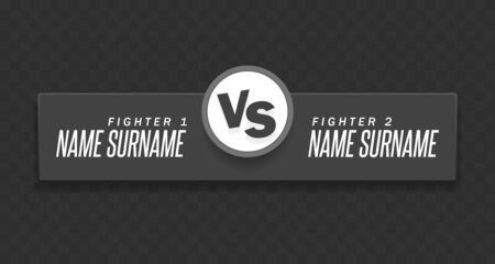 Versus Logo. VS Vector Letters Illustration. Competition Icon. Fight Symbol. On a transparent background