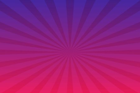 Purple radial retro background. Purple and pink abstract spiral, starburst. Comics background. Vector illustration. Çizim