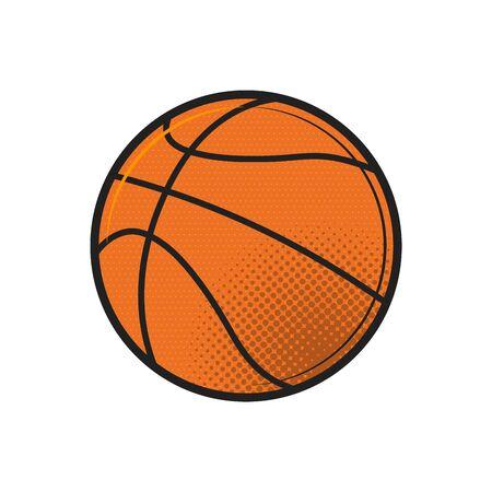 Basketball ball icon vector illustration design. Flat vector illustration in black on white background.