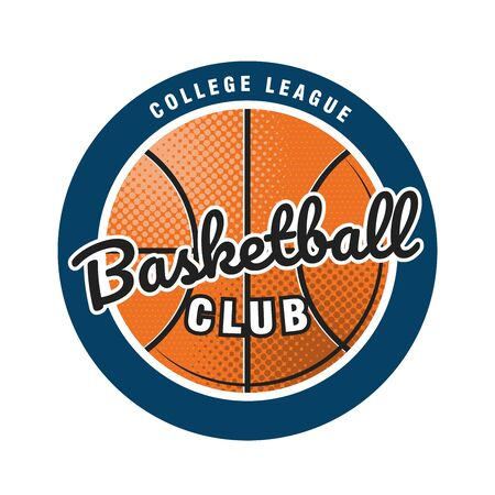 Basketball club template. Emblem of the basketball team. Vector illustration