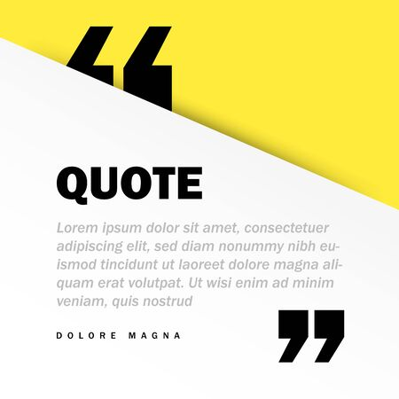 Square Motivation Quote Template Vector Background with Realistic Soft Shadows in Material Design. Good for Inspirational Text, Quotes etc. Horizontal Layout. Vector illustration