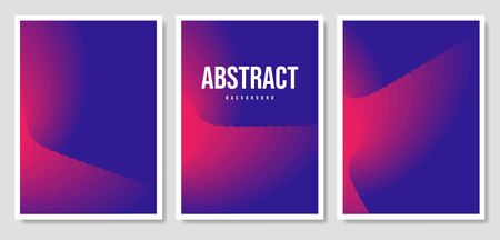 Set of three vector banners with colorful abstract background and writing. Çizim