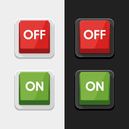 On - Off Switch Power Button Symbol Icon Vector Design Illustration. Çizim