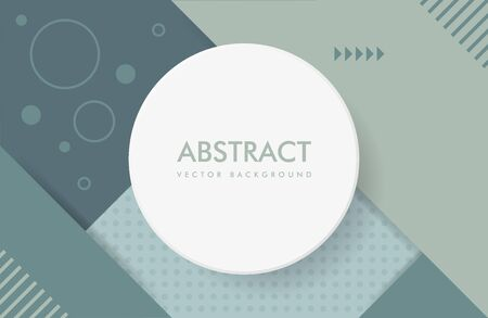 Abstract dark green background with a round frame and a set of lines and other geometric shapes.