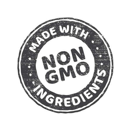Gmo free grunge rubber stamp on white background, vector illustration.