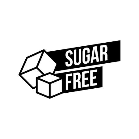 Sugar free foods Icon. Black and white designs, can be used as stamps, seals, badges, for packaging etc. Vector illustration