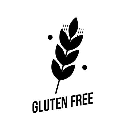 Gluten free seals. Black and white designs, can be used as stamp, seals, badges, for packaging . Vector illustration Vector Illustration