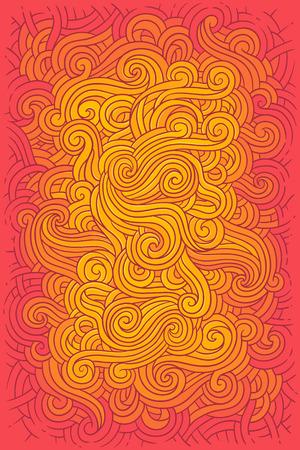 Vector illustration hippie background in retro style